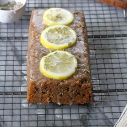 Easy Lemon Lavender Loaf with Lemon Glaze