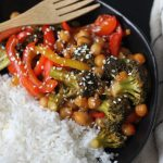 sweet and sour chickpeas final dish