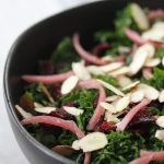 5 minute kale salad with simple dijon dressing