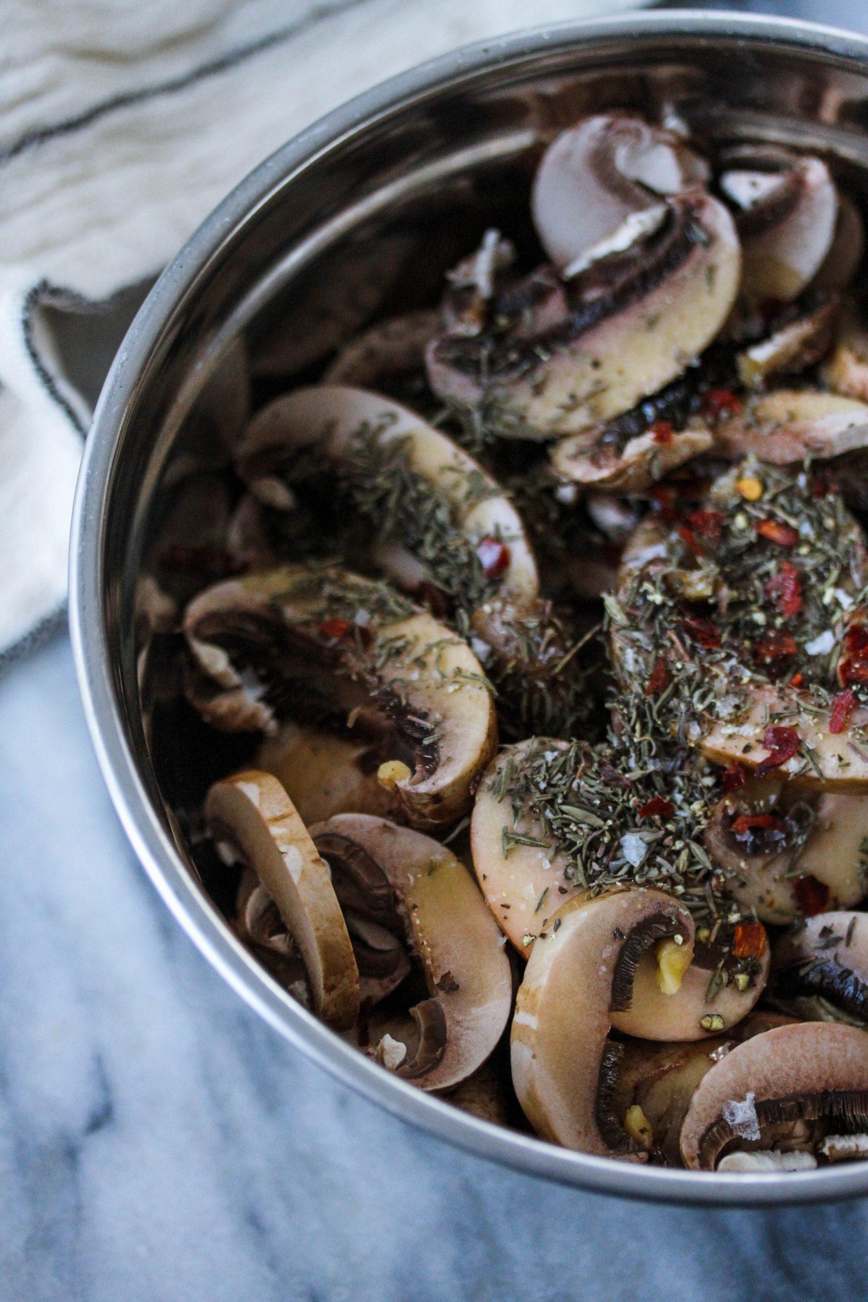 Mushroom Bacon prepped